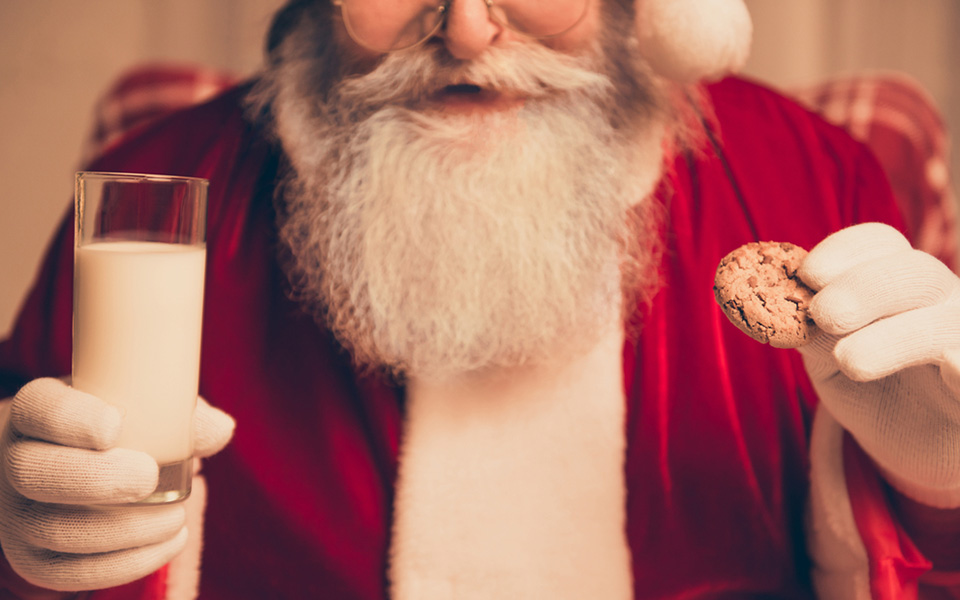 Father Christmas Milk & Cookies