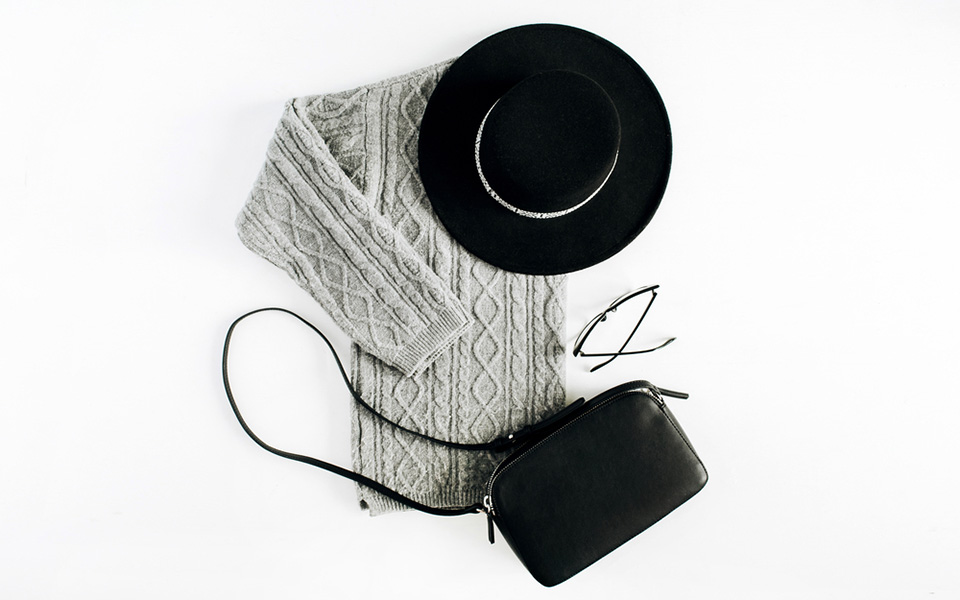 Grey Outfit Flatlay